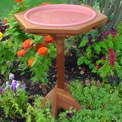 Classic Garden Bird Bath with Post