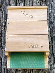 OBC Triple Chamber Cedar Bat House