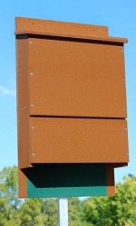 OBC Recycled Poly Triple Cell Bat House Brown