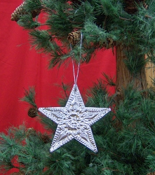 Punched Metal Ornament Star Set of 12