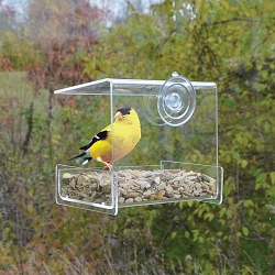 Clear View Mini Open Diner Window Bird Feeder