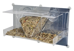 Clear View Deluxe Hopper Mirrored Window Bird Feeder
