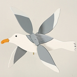 Classic Flying Sea Gull Whirligig