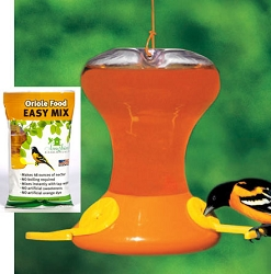 Fliteline Junior 30oz Oriole Feeder w/6 Pack 8oz Nectar