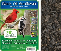 Songbird Essentials Black Oil Sunflower Bird Seed 20#