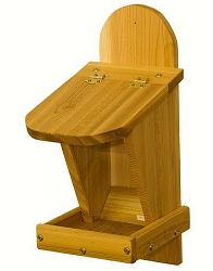 Select Cedar Front Mixed Seed Feeder