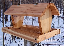 Select Cedar Medium Post Mount Hopper Feeder