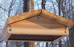 Select Cedar Large Upside-Down Suet Feeder