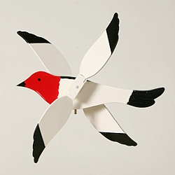Classic Flying Red-Headed Woodpecker Whirligig