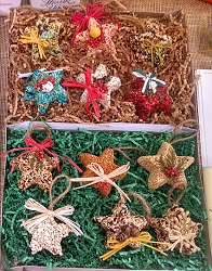 Bird Seed Star Ornaments Set of 12