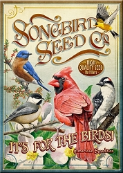 Songbird Seed Company Large Tin Sign