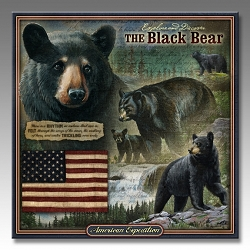 Black Bear Wildlife Series 3-D Embossed Tin Sign
