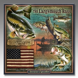 Largemouth Bass Wildlife Series 3-D Embossed Tin Sign