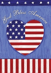 God Bless America House Flag