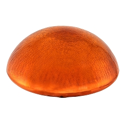 Crackle Glass Toadstool Mandarin