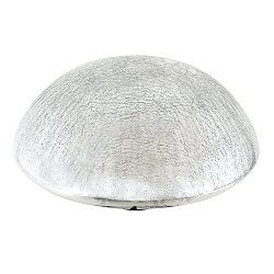 Crackle Glass Toadstool Silver