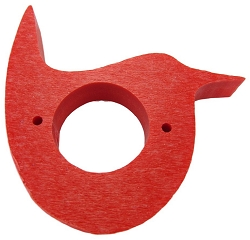 Recycled Poly Wren House Predator Guard Red Set of 2