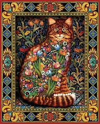 Tapestry Cat Jigsaw Puzzle 1000 Piece