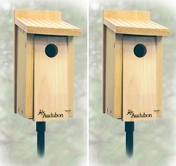 Audubon Cedar Bluebird House Package w/5-Piece Pole Kit