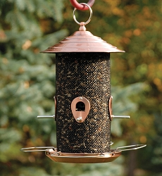 Audubon Brushed Copper Mixed Seed Feeder