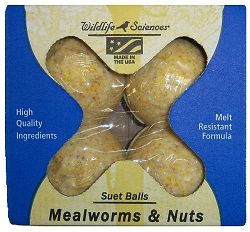 Mealworms and Nuts Suet Balls 16/Pack