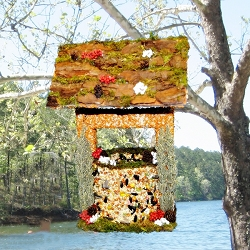 Wishing Well Edible Bird Feeder Orange