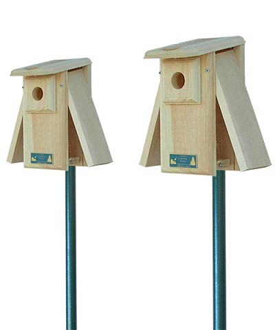 Conservation Open 2-Side Bluebird House Package w/Pole Kit