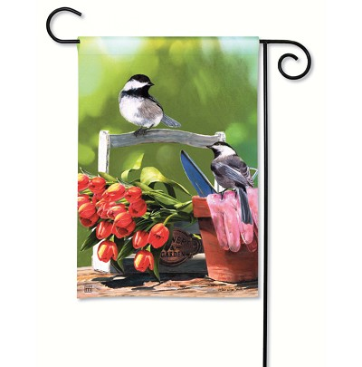 Chickadee Rest Stop Garden Flag