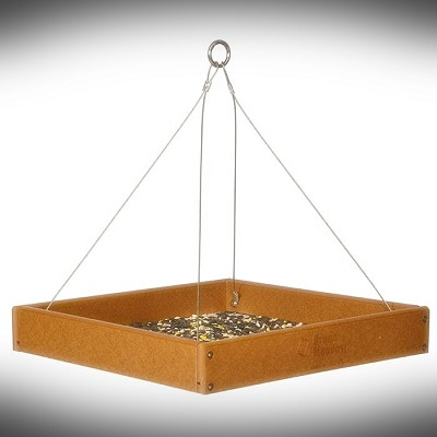 Amish Recycled Poly Fly By Hanging Tray Feeder