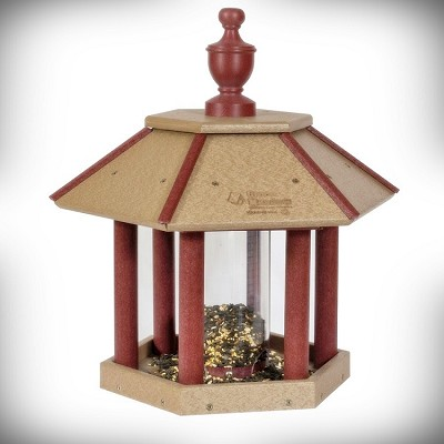 Amish Recycled Poly Post Mount Gazebo Bird Feeder