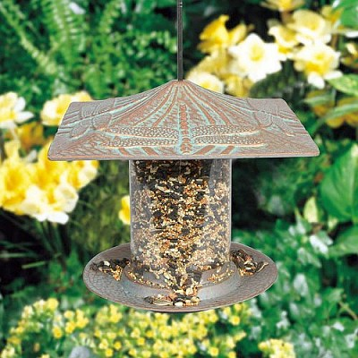 Classic Dragonfly Seed Tube Feeder Small Copper Verdi