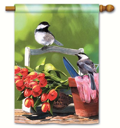 Chickadee Rest Stop House Flag
