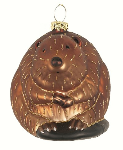 Northwoods Beaver Blown Glass Ornament