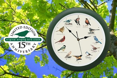 "Original Singing Bird Clock 13"" Anniversary Edition"