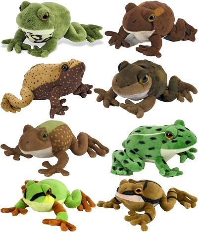 Cuddlekins Frog Watch Collection Set of 8