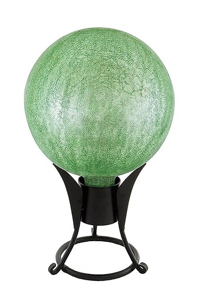 Crackle Glass Gazing Globes Light Green 6""
