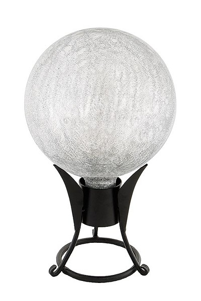 Crackle Glass Gazing Globes Silver 10""