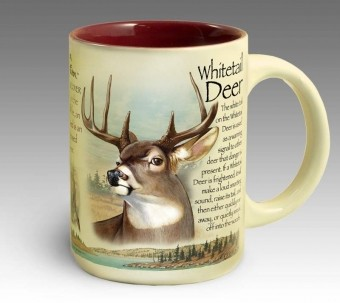 Whitetail Deer 16 oz. Stoneware Coffee Mug