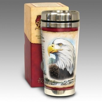 Bald Eagle 16 oz. Steel Travel Mug