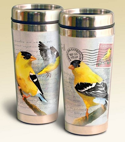 American Goldfinch Vintage Series 16oz Steel Travel Mug