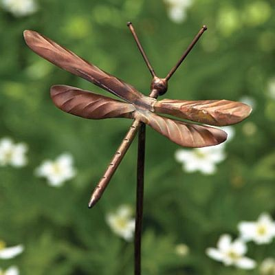 Dragonfly Garden Stake Ornaments Set of 4