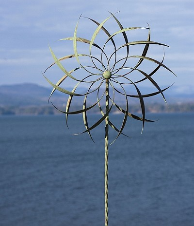 Pinwheel Wind Spinner with Twisted Stake