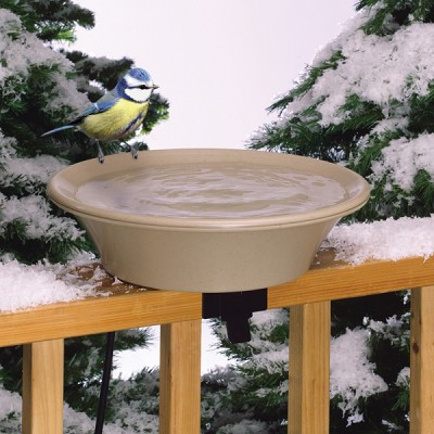 "EZ-Tilt Heated 14"" Bird Bath Deck/Pole Mount"