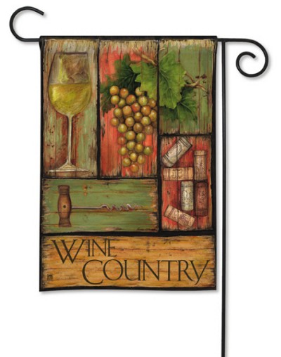 White Wine Garden Flag