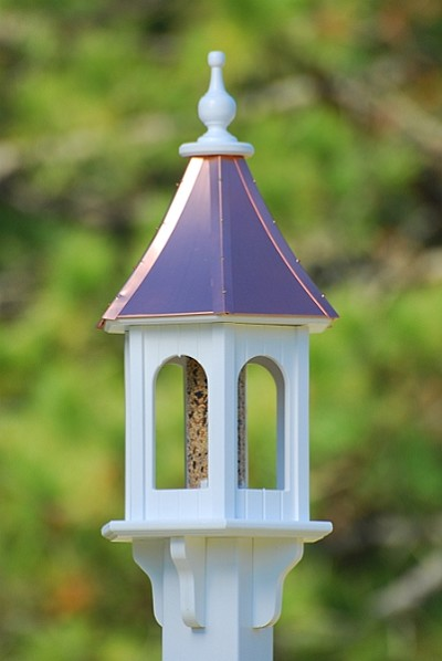 "10"" Gazebo Bird Feeder Bright Copper"
