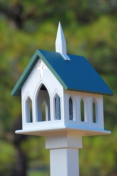 "12"" Church Bird Feeder"