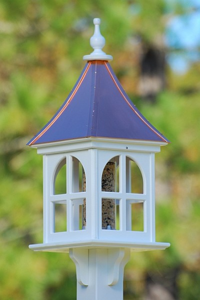 "12"" Square Gazebo Bird Feeder Bright Copper"