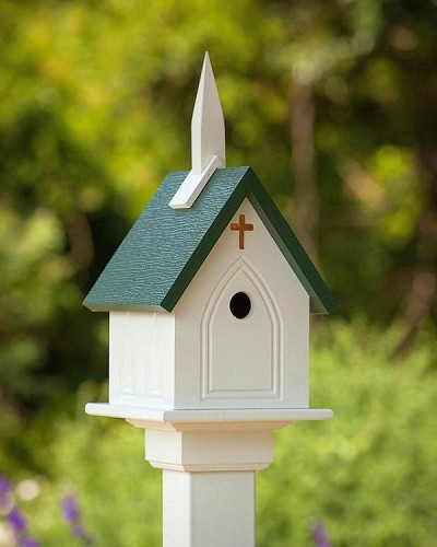 "10"" Church Birdhouse"