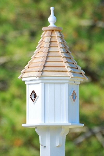 "12"" Dovecote Birdhouse 3 Compartment Portals Cypress Shingle"