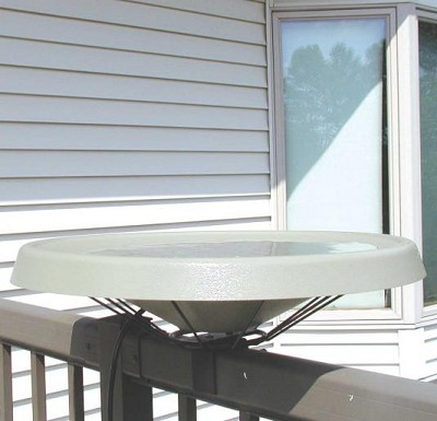 Birds Choice Deck Mounted Heated Bird Bath White